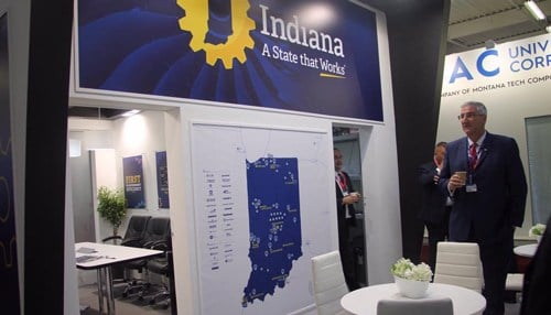 Governor Eric Holcomb led an economic development mission to Europe, which included time at the Paris Air Show.