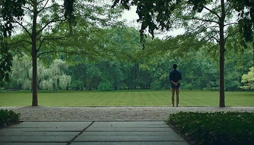 (Image of John Cho at the Miller House and Garden courtesy of Visit Columbus Indiana)