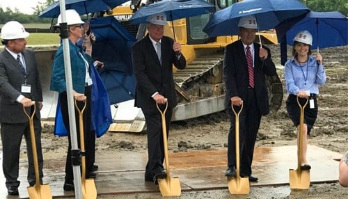 Officials broke ground on the project a year ago.