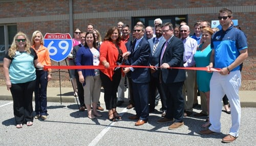 Ribbon cutting ceremonies for the new project offices were held in Evansville (pictured) and Henderson.