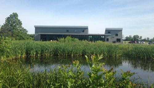 © The new Cope Environmental Center in Centerville, Wayne County.