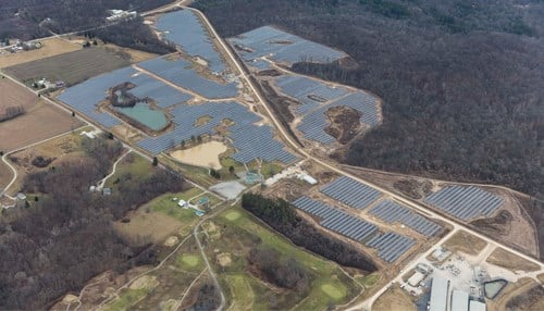 Duke Energy Indiana's solar farm at NSA Crane covers 145 acres.