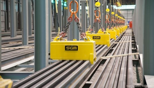 (Image of the company's Columbia City-based Structural and Rail Division equipment courtesy of Steel Dynamics Inc.)