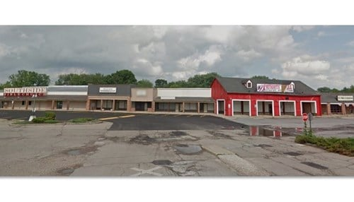 The vacant strip mall is located near Greenwood Park Mall. (photo courtesy of the city of Greenwood)