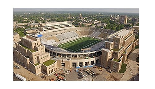 (Image of Campus Crossroads construction courtesy of the University of Notre Dame.)