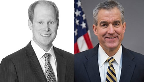 Image of Tom Kirsch (pictured left) courtesy of Winston & Strawn and the image of Josh Minkler (pictured right) courtesy of the U.S. Department of Justice.