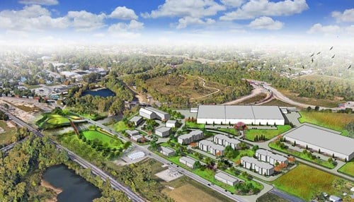 (Aerial rendering provided by Kitselman Pure Energy Park)