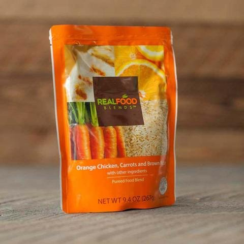 "The company currently sells four meals, such as ""Orange Chicken, Carrots & Brown Rice."""
