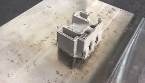 (Image of 3D printed metal component courtesy of ITAMCO.)
