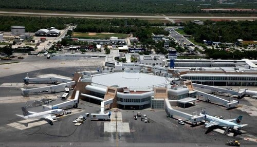 If approved, the new weekly route to Cancun International Airport (pictured) is set to begin in March.