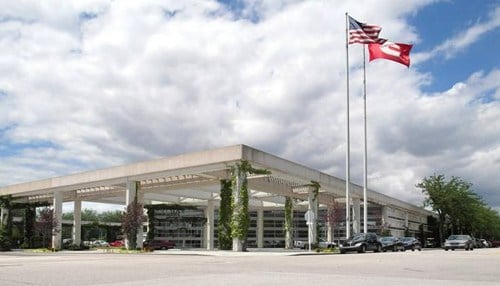 (Image of Cummins Global Headquarters courtesy of Columbus, Indiana Visitors Center.)