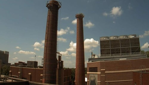 Crews expect to have the smokestacks completely removed by August 26.