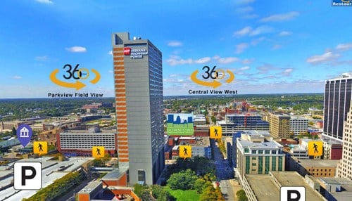 Clear Vision Media has used its technology in other communities such as downtown Fort Wayne.
