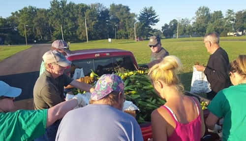 The final harvest took place Tuesday. (photo courtesy Ivy Tech Community College)