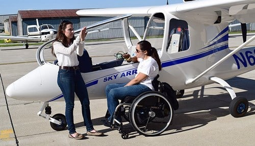(Image of Able Flight instructor Molly Van Scoy and student Melissa Allensworth courtesy of Purdue University.)