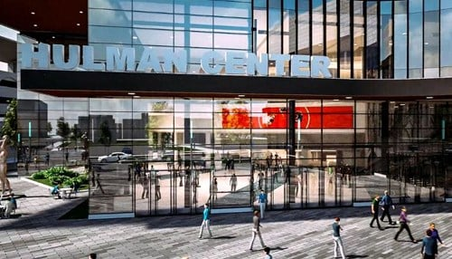 (Rendering of proposed Hulman Center convention center expansion courtesy of Ratio Architects)