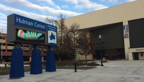 The Hulman Center first opened in 1973.