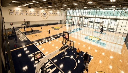 The 130,000 square foot facility includes training space for the Indiana Pacers.