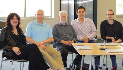 The Figuro3D management team (from left to right): Sandra Gesing, Paul Brenner, Christopher Sweet, Robert Kuang and James Sweet.