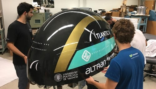 The new pod, Atlantic II, was designed in collaboration with Universitat Politecnica de Valencia in Valencia in Spain. (photo courtesy Purdue University)