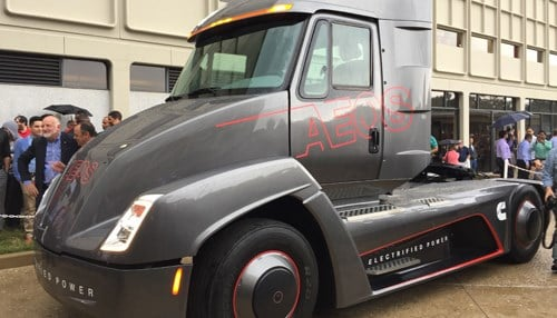 Cummins unveils electric semi truck before Tesla