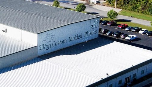 (Image of Ohio headquarters courtesy of 20/20 Custom Molded Plastics) 20/20 is located close to the Indiana State Line in Holiday City, Ohio.