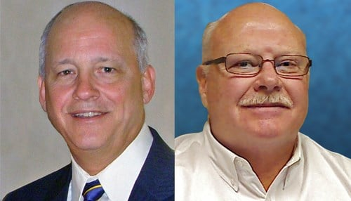 Dr. Greg Larkin is pictured left and Don Kelso is pictured right.