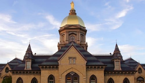 (Image of the Main Building courtesy of the University of Notre Dame.)