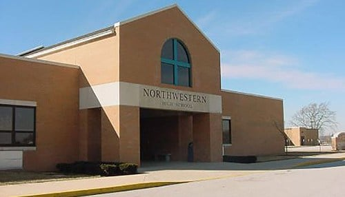 Northwestern High School in Howard County is one of more than 80 first-time honorees. (Image courtesy of the Northwestern School Corp.)