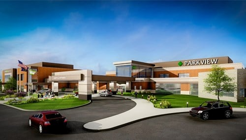 A new Parkview Wabash Hospital campus is currently under construction. (rendering courtesy Parkview Health)