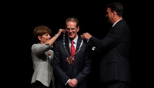 Mearns officially began his tenure as Ball State's 17th president in May.