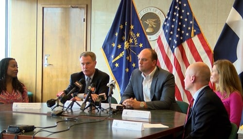 Mayors Joe Hogsett and Scott Fadness announced the effort to attract the project at a news conference Monday.