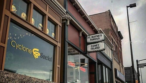 (Image courtesy of Cyclone Social) The company is located in downtown Fort Wayne next to the historic Coney Island restaurant.