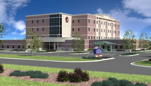 (rendering courtesy Community Healthcare System)