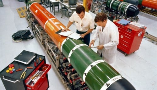 The contract calls for production of sections of the MK 48 Mod 7 heavyweight torpedo. (photo courtesy Lockheed Martin)