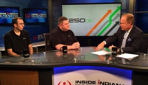 250ok CTO Ryan Pfenninger and CEO Greg Kraios appeared in Inside INdiana Business Television last year.