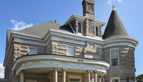 The house was built by C.S. Norton, a pioneer in the limestone industry.