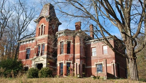 Restoration of the Newkirk Mansion is expected to take several years to complete. (photo courtesy Indiana Landmarks)