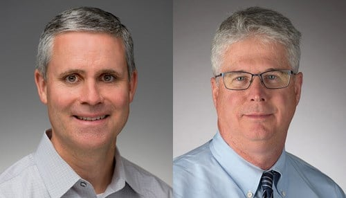 James Sullivan (left) and William Evans are leading the research initiative. (photos courtesy University of Notre Dame)