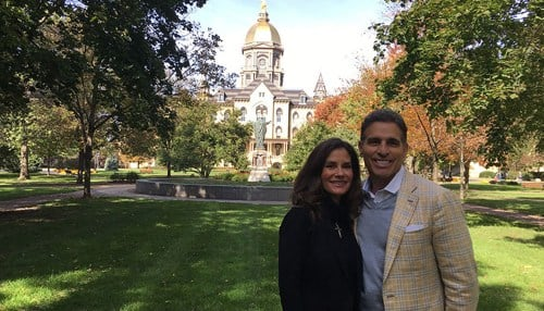 Pamela and Kenn Ricci (photo courtesy University of Notre Dame)
