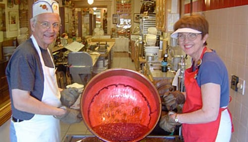 (Image courtesy of Schimpff's Confectionery) Warren and Jill Schimpff bought the family business in 1990.