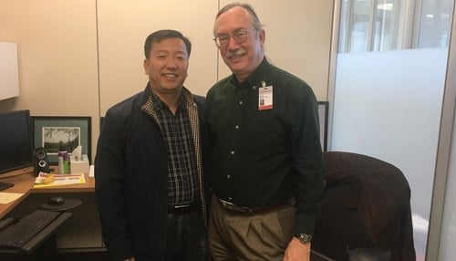 Yongsheng Bai of Indiana State University (pictured left) and Kevin Coombes of Ohio State University (pictured right) serve as co-principal investigators for the NIH-funded program.