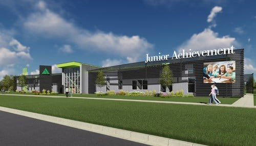 (Rendering of planned new Junior Achievement campus in northeast Indiana.)