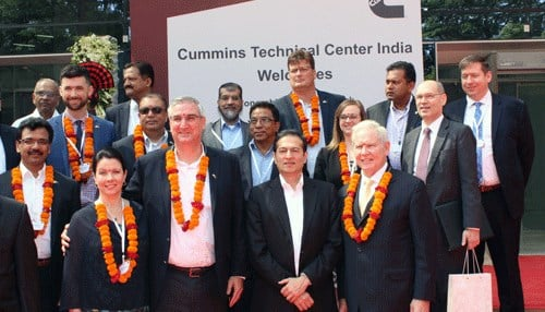 The trip also included meetings with executives from Columbus-based Cummins Inc.