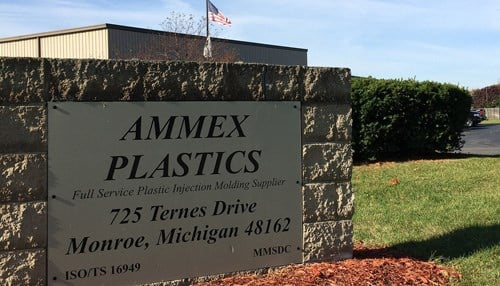 Ammex Plastics is headquartered in Monroe, Michigan.