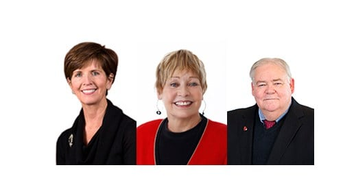 (Images courtesy of Ball State University.) From left to right: Renae Conley, Jean Ann Harcourt, Mike McDaniel