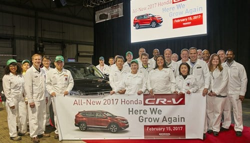 The Greensburg plant began production the CR-V in February.