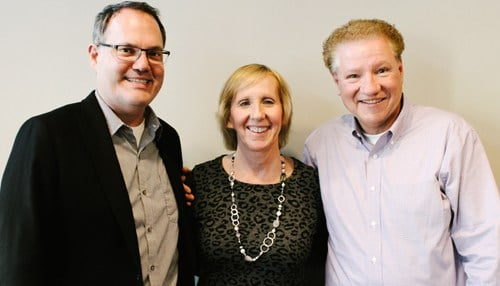 Pictured from left-to-right: Rob DeCleene, Mari Bishop and Paul Laskowski