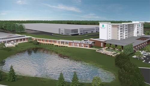The Embassy Suites Hotel & Conference Center in Plainfield is expected to open in the fall of 2018.