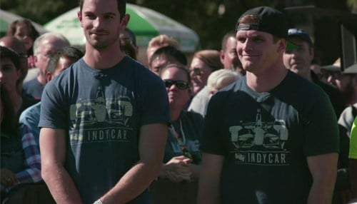 Image of Alexander Rossi (pictured left) and Conor Daly (pictured right) courtesy of CBS.